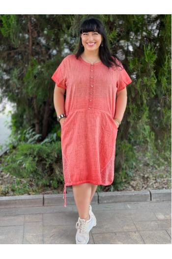 Лятна рокля от лен /размери 50,52,54/ Модел: 743