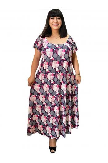 Дълга макси рокля на кръгове /Универсален размер/ Модел: 773