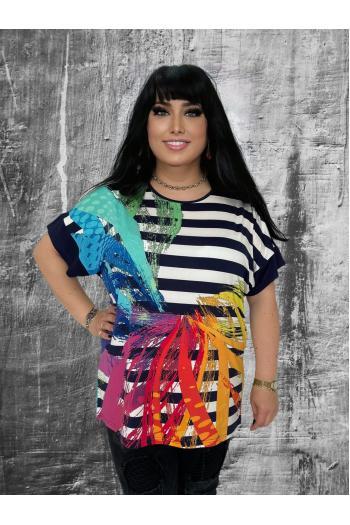 Свежа макси блуза в пастелни цветове /рамери 3XL,4XL/  Модел: 637
