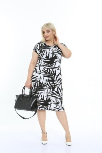 Макси рокля на листа /2XL,3XL,4XL/ Модел: 621