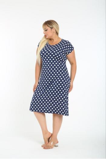 Макси рокля  на точки /размери 2XL,3XL,4XL/ Модел: 497