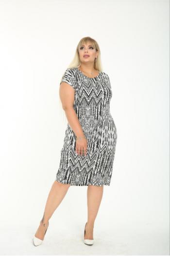 Макси рокля в интересен принт /размери 2XL,3XL,4XL/ Модел: 732