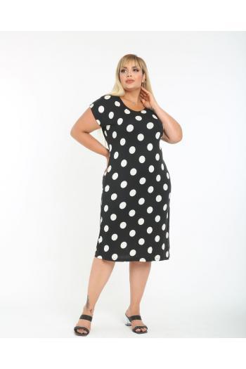 Макси рокля на точки  /размери 2XL,3XL,4XL/ Модел: 344
