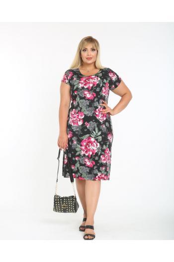 Лятна рокля на цветя /размери 2XL,3XL,4XL/ Модел: 835