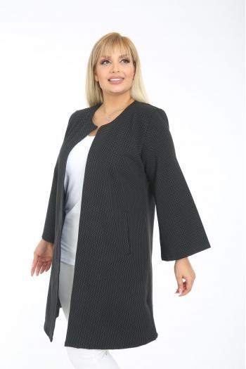 Елегантно макси сако с финни орнаменти /2XL,3XL,4XL/ Модел: 916