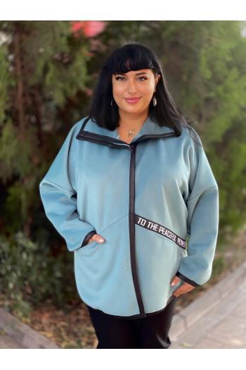 Свежо палто в цвят резида/размери 3XL,4XL/Модел: 936