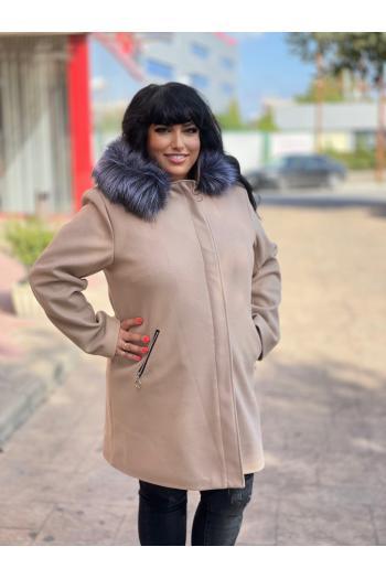 Макси палто в класическа кройка /размери 4XL,5XL/ Модел: 963