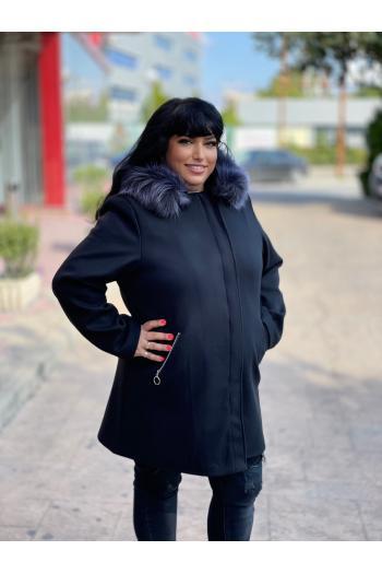 Макси палто в класическа кройка /размери 4XL,5XL/ Модел: 962