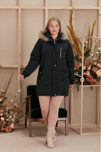 Зимно макси яке /размери 44,46,48,50/ Модел: 954