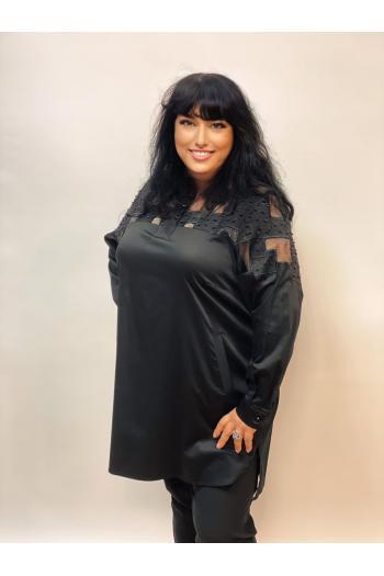 Елегантна макси риза с пайети /размери 50,52,54/ Модел: 983