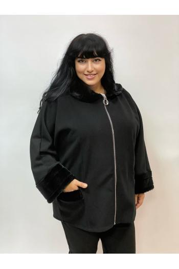 Стилно макси палто с еко косъм /Универсален размер/ Модел: 980