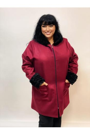 Стилно макси палто от кашмир /размери 4XL,5XL/ Модел: 975