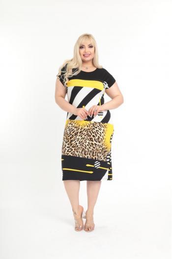 Кокетна лятна рокля /размери 2XL,3XL,4XL/ Модел: 623