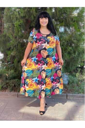 Макси рокля в пастелни цветове /Универсален размер/ Модел: 717