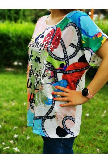 Цветна макси тениска /размери 42,44/ Модел: 504