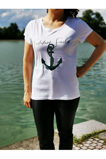 Тениска с принт котва /Универсален размер/ Модел: 518