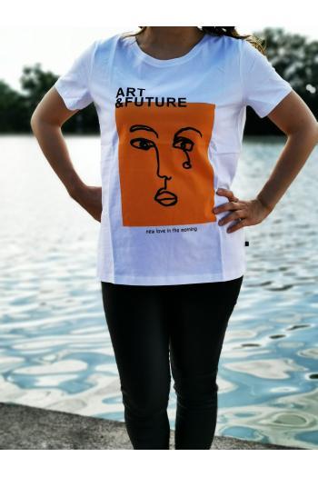Макси тениска с принт лице /Универсален размер/ Модел: 516/TR