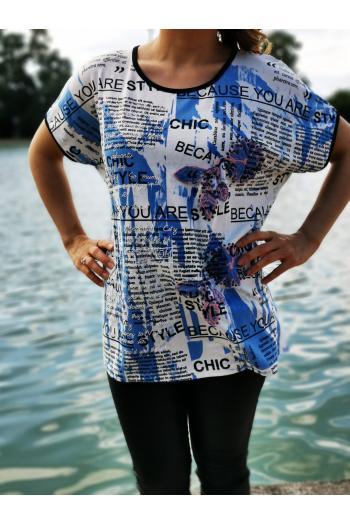 Тениска с надписи  /размери 42,44/ Модел: 510
