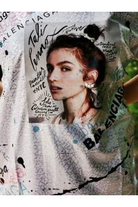 Макси тениска  с щампа и надписи/ Модел: 514
