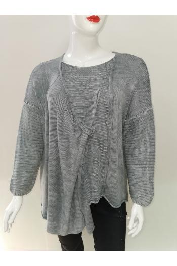 Разчупена макси блуза в два цвята /Универсален размер/ Модел: 603