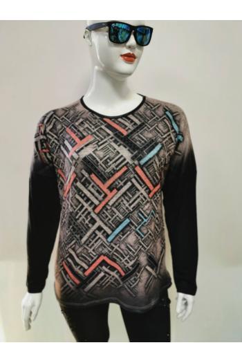 Блуза с цветен принт /Универсален размер/ Модел: 612