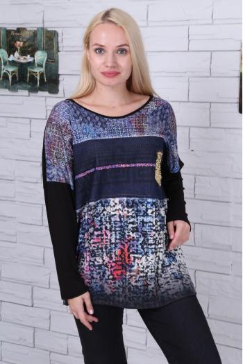 Ефектна дамска блуза /размери 46,48,50/ Модел: 474