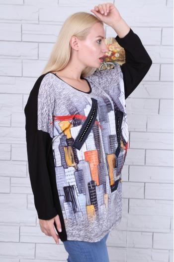 Блуза в свеж десен /размери 46,48,50/ Модел: 478