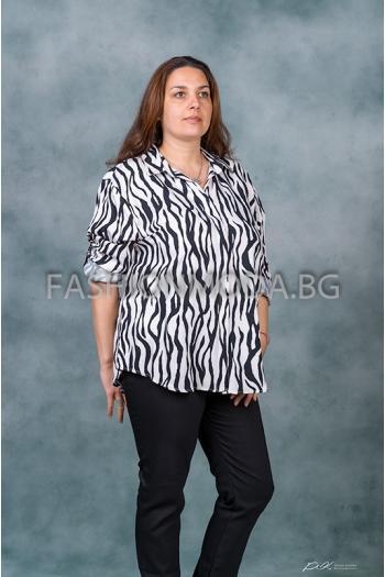 Елегантна макси риза /размери 52,54,56,58,60/ Модел: 310