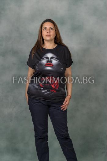 Макси блуза с красива щампа /Универсален размер/ Модел: 337