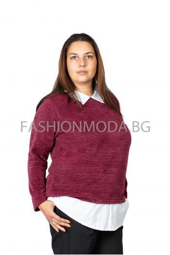 Макси блуза от кадифе /Универсален размер/ Модел: 328