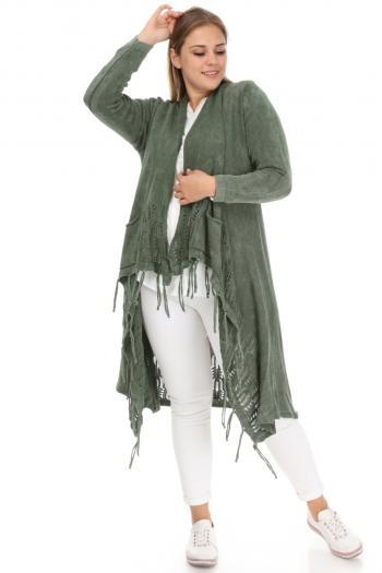 Дълга жилетка в три цвята /Универсален размер/ Модел: 543