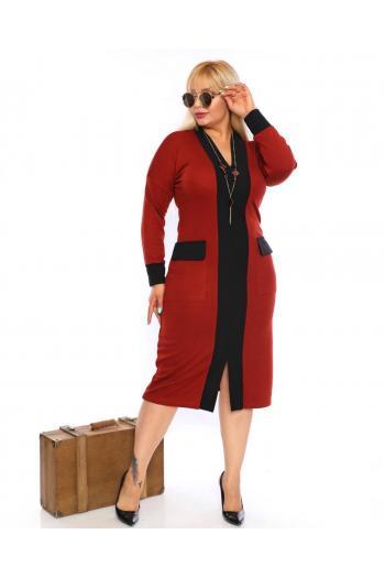 Стилна макси рокля /размери 2XL,3XL,4XL/