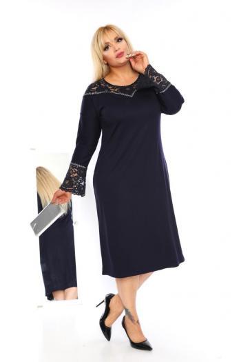 Елегантна макси рокля с дантела /размери 2XL,3XL,4XL/ Модел: 405