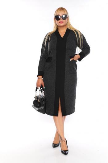 Макси рокля с джобове /размери 2XL,3XL,4XL/ Модел: 412/TR