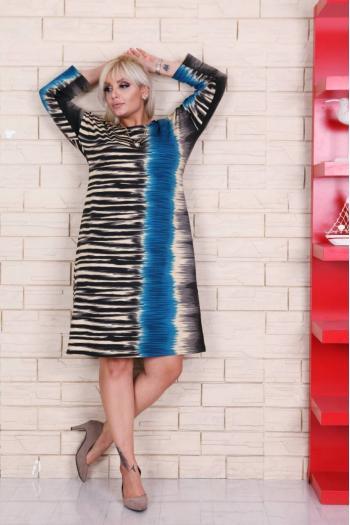 Свежа макси рокля с тигров принт /размери 2XL,3XL,4XL/