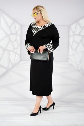 Изискана макси рокля с камъчета /размери 2XL,3XL,4XL/ Модел: 466