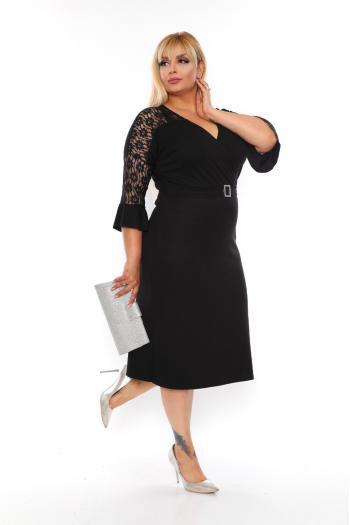 Официална рокля с дантела /размери 2XL,3XL,4XL/ Модел: 467