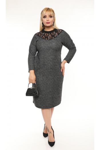 Официална рокля с дантела /размери 2XL,3XL,4XL/ Модел: 494