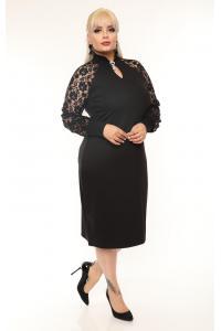 Елегантна рокля с дантела /2XL,3XL,4XL/ Модел: 493