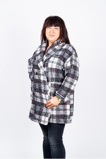 Карирано макси палто /Универсален размер/ Модел: 445/IT