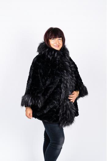 Стилно палто от еко косъм /Универсален размер/ Модел: 443/IT