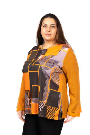 Макси блуза в свеж цветен принт /Универсален размер/ Модел: 490