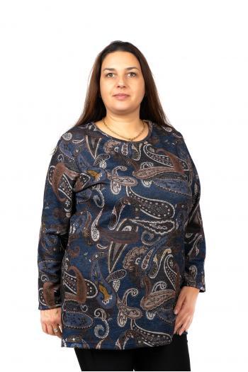 Пъстра макси блуза /Универсален размер/ Модел: 488