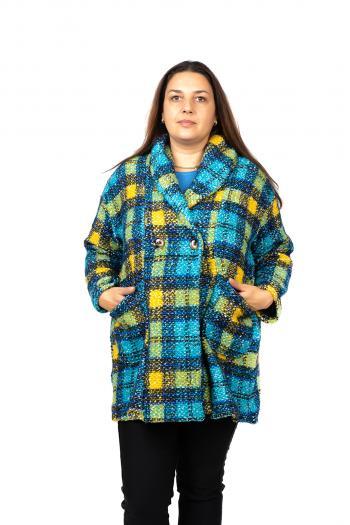 Свежо палто на пъстро каре /Универсален размер/ Mодел: 456/IT