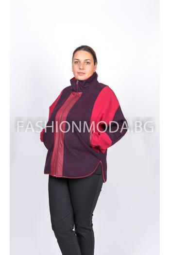 Стилно макси палто /размери XL,2XL/