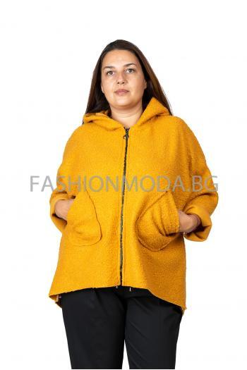 Макси палто в цвят горчица /Универсален размер/ Модел: 414/IT