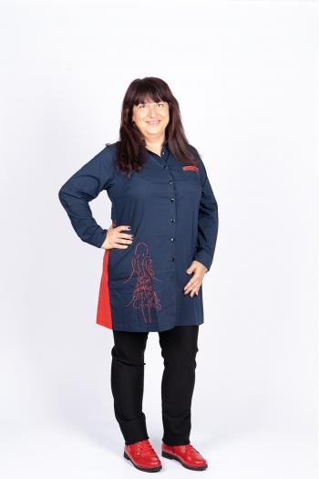 Дълга макси риза с надписи /размери 44,46,48/ Модел: 426/TR
