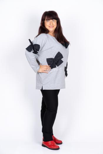 Кокетна макси блуза с панделки /размери 46,48,50/ Модел: 435/TR