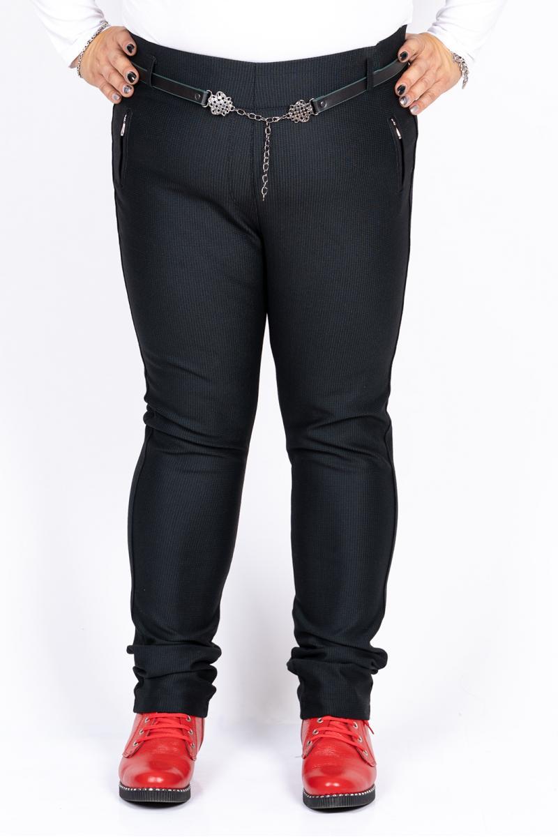Черен макси панталон на райе /размери 50,52,54,56/ Модел: 421/TR