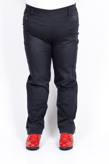 Макси дънки в черен деним /размери 50,52,54,56/ Модел: 423/TR